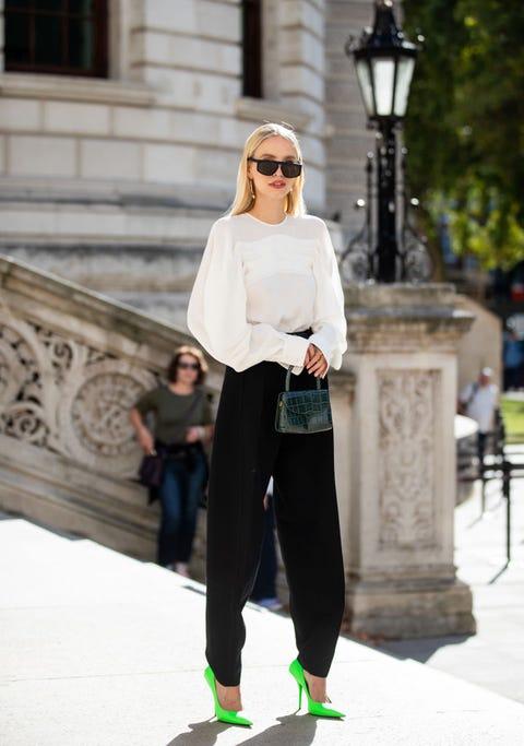 Clothing, White, Street fashion, Fashion, Footwear, Snapshot, Eyewear, Sunglasses, Sportswear, Trousers,