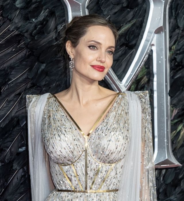 london, united kingdom   20191009 angelina jolie attends the maleficent mistress of evil european premiere at the bfi imax, waterloo photo by gary mitchellsopa imageslightrocket via getty images