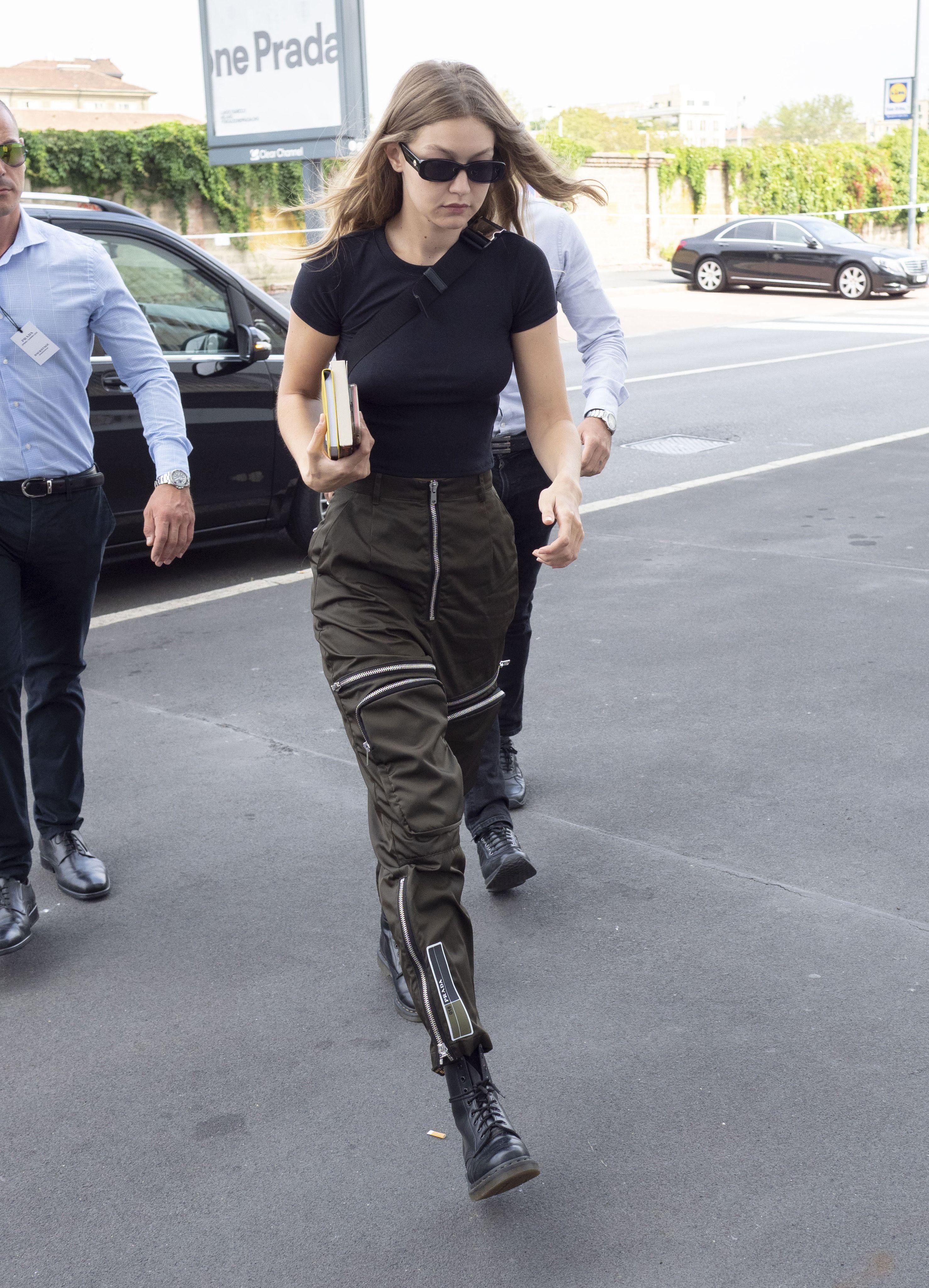 Gigi Hadid Dr. Martens Outfits