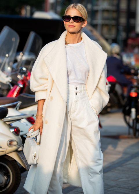 米蘭時裝週同色系穿搭街拍