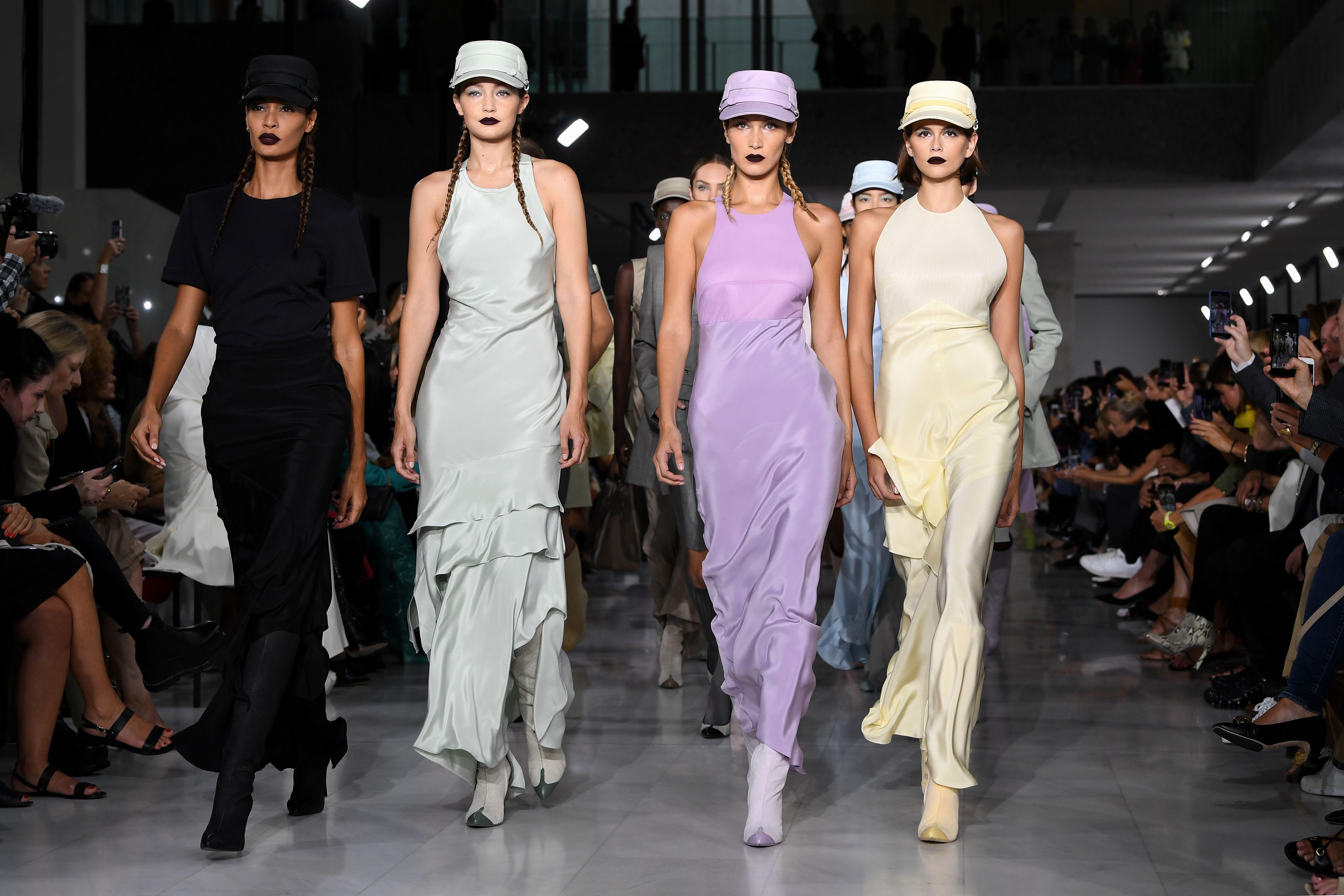 Kaia Gerber, Bella Hadid And Gigi Hadid Form Fashion Army On Max Mara SS20 Runway