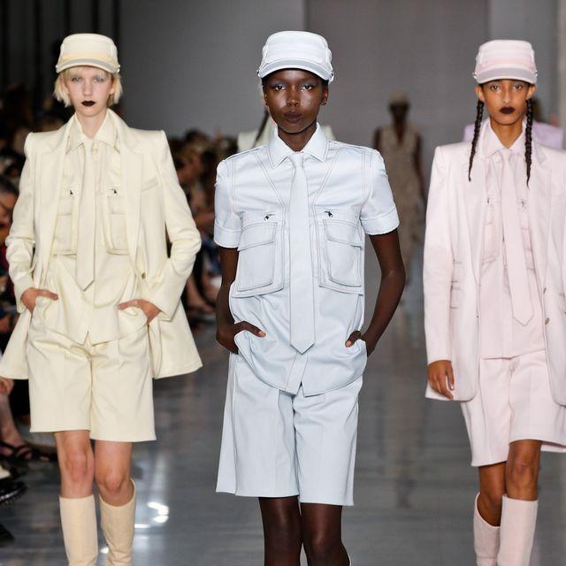 Fashion, Clothing, Runway, Uniform, Fashion show, Fashion model, Fashion design, Joint, Footwear, Headgear,