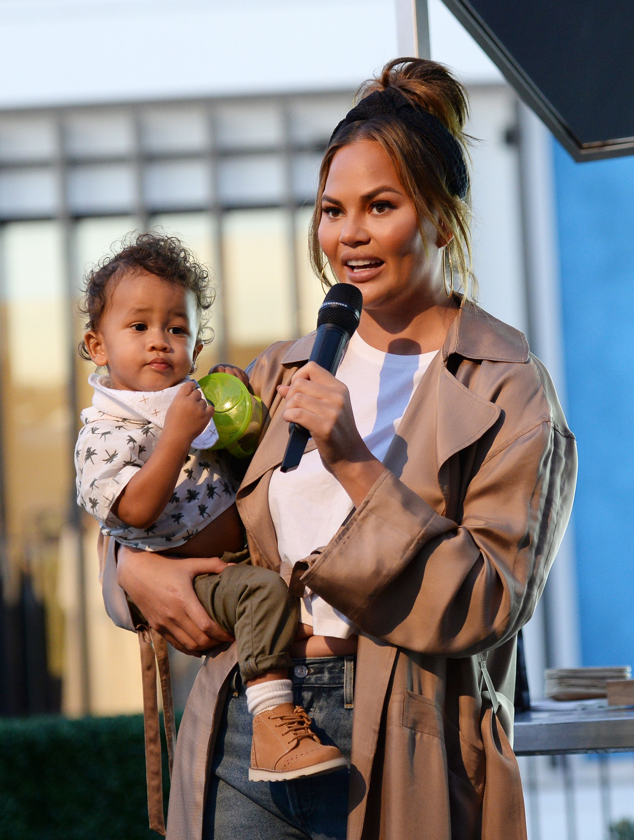 Chrissy Teigen Dug Out Luna's Iconic Hot Dog Costume For Little Brother Miles