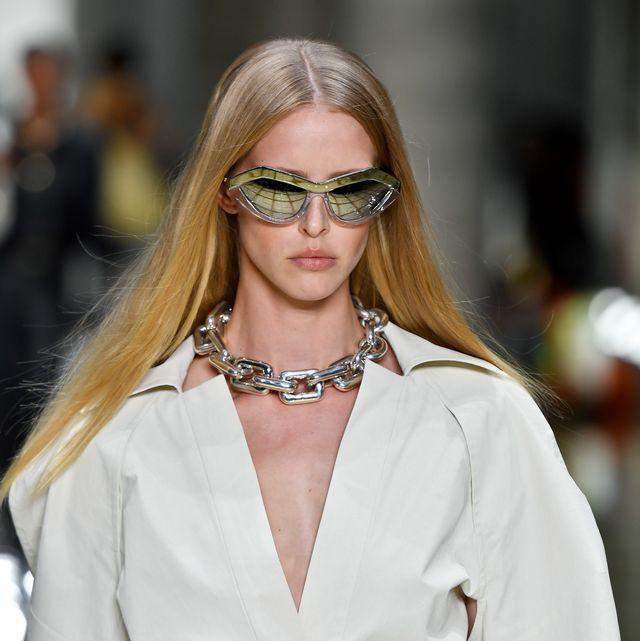 Eyewear, Glasses, White, Hair, Fashion, Sunglasses, Fashion model, Blond, Beauty, Lip,