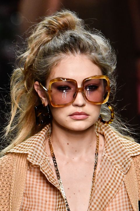 Eyewear Trends 2020.Prada Gucci Missoni Runway Hair And Makeup Trends Milan