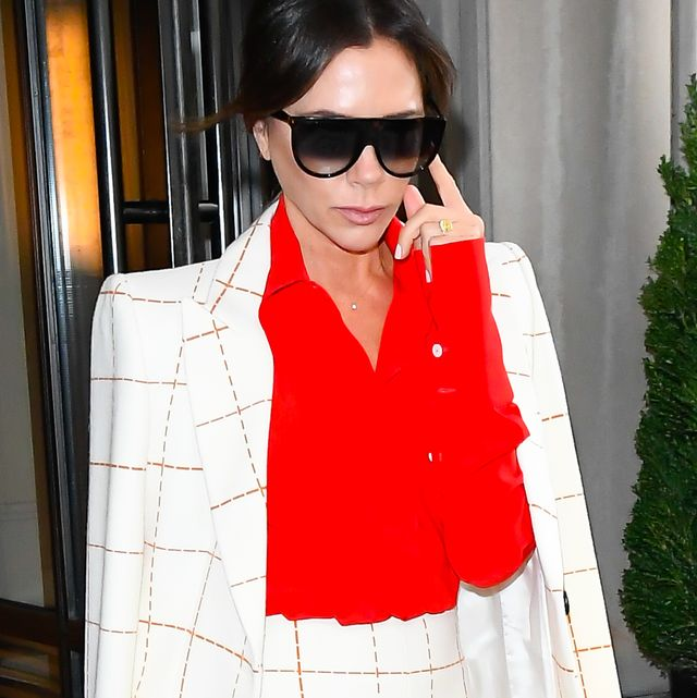 new york, ny   october 17  victoria beckham is seen coming out of the mark hotel on october 17, 2019 in new york city  photo by raymond hallgc images