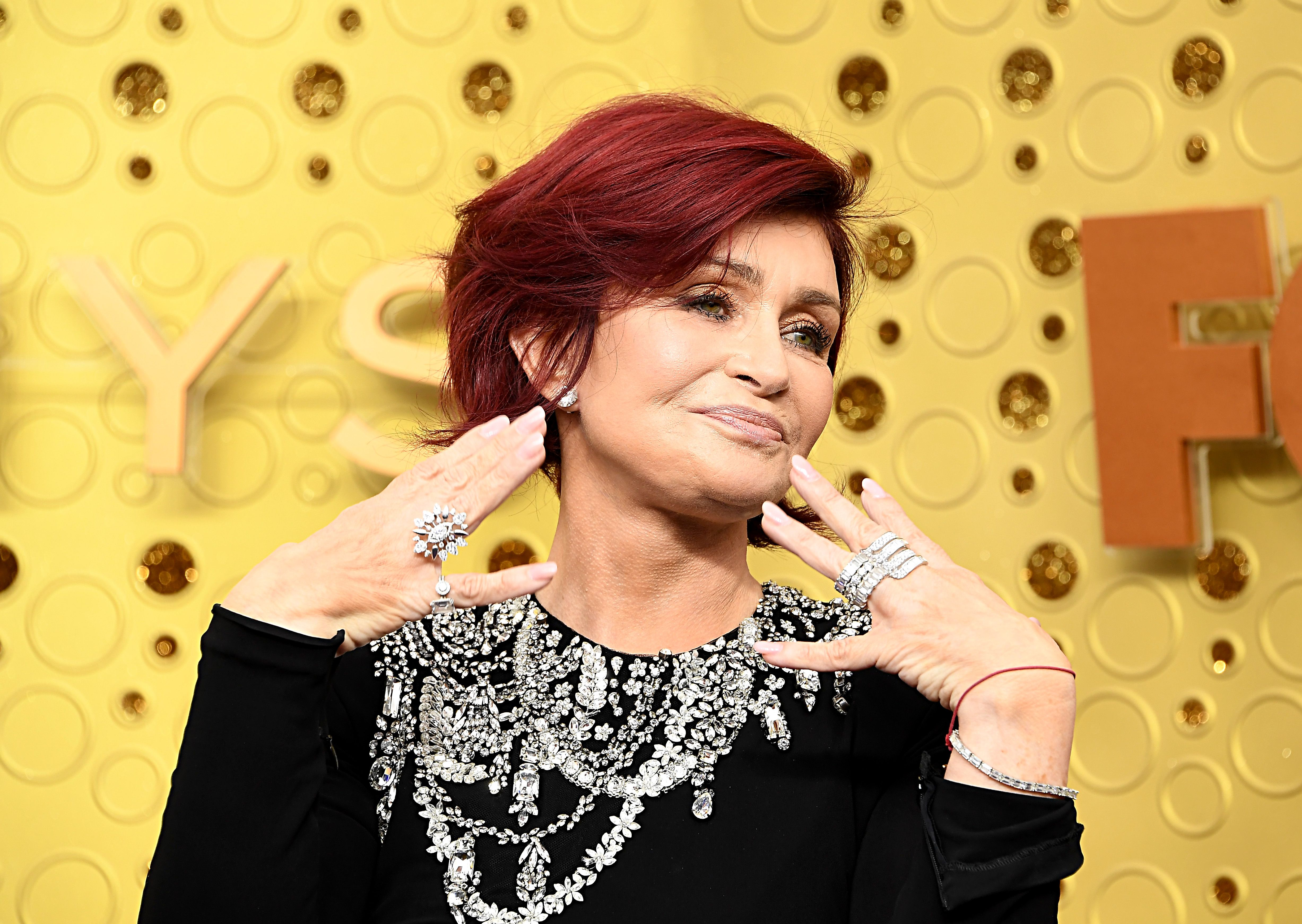 Sharon Osbourne Just Hit the Emmys Red Carpet Post-Face Lift, Looks Amazing