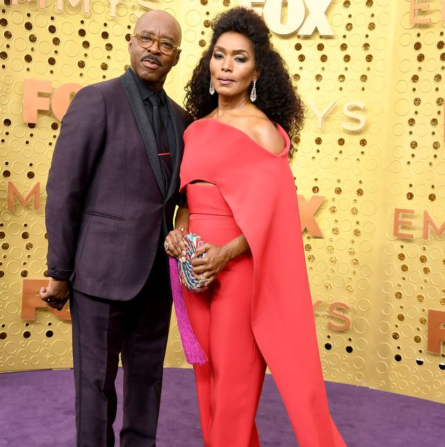 los angeles, california   september 22 l r courtney b vance and  angela bassett attends the 71st emmy awards at microsoft theater on september 22, 2019 in los angeles, california photo by steve granitzwireimage