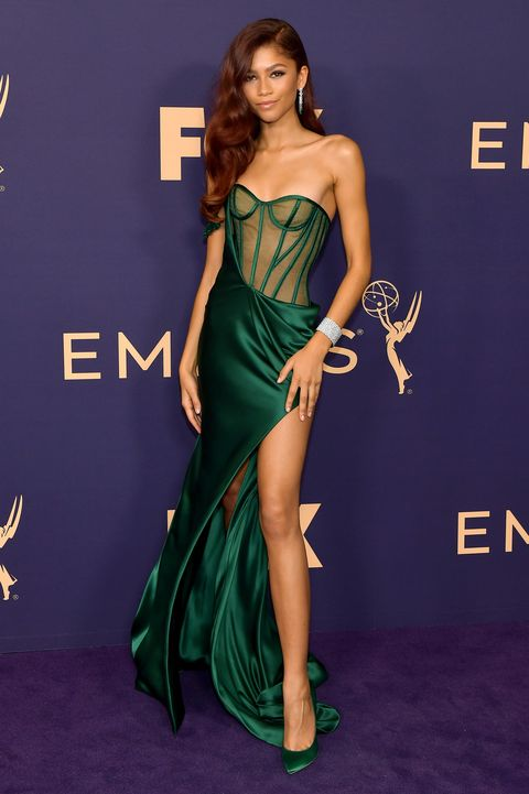 Zendaya Legit Wears Lingerie-Inspired Dress on the 2019 Emmys Red Carpet