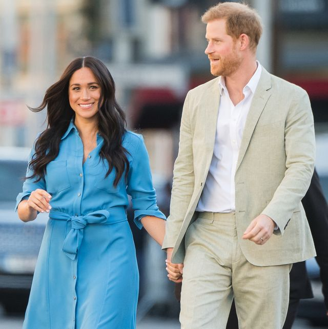 cape town, south africa   september 23 meghan, duchess of sussex and prince harry, duke of sussex visit  the district 6 museum and homecoming centre during their royal tour of south africa on september 23, 2019 in cape town, south africa district 6 was a former inner city residential area where different communities and races lived side by side, until 1966 when the apartheid government declared the area whites only and 60,000 residents were forcibly removed and relocated  photo by samir husseinwireimage
