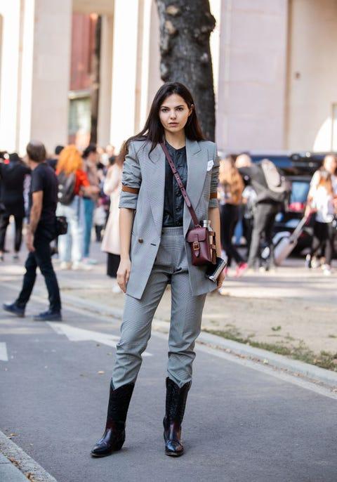 Clothing, Street fashion, Fashion, Photograph, Jeans, Blazer, Snapshot, Footwear, Outerwear, Suit,