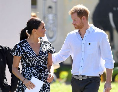 cape town, south africa   september 23 prince harry, duke of sussex and meghan, duchess of sussex visit the nyanga township during their royal tour of south africa on september 23, 2019 in cape town, south africa photo by karwai tangwireimage