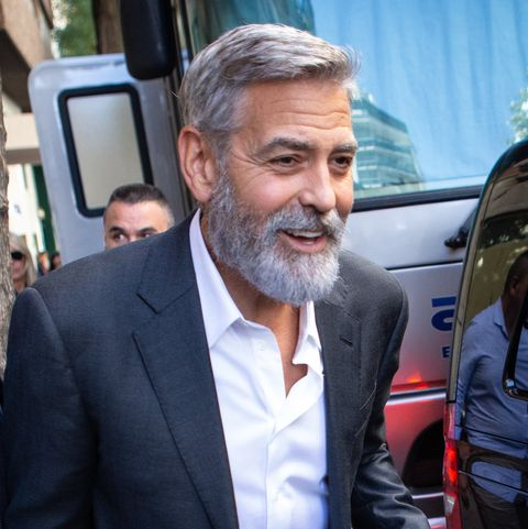 Fine George Clooney Photographed With Beard In Madrid After Shooting Schematic Wiring Diagrams Phreekkolirunnerswayorg