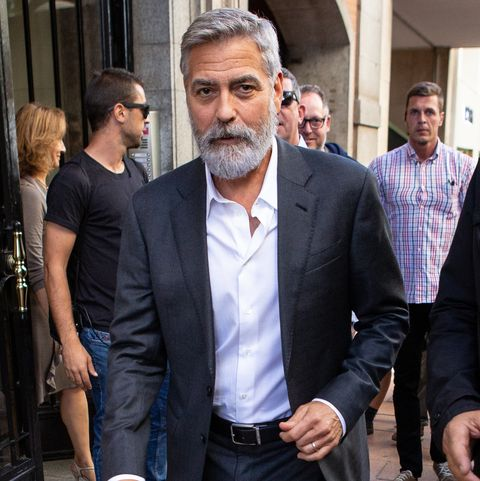 Fabulous George Clooney Photographed With Beard In Madrid After Shooting Schematic Wiring Diagrams Phreekkolirunnerswayorg