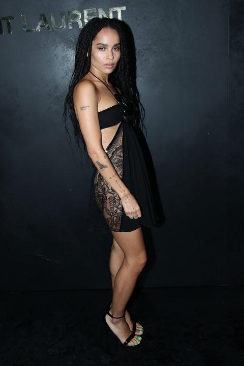 Black, Clothing, Fashion model, Dress, Little black dress, Beauty, Long hair, Shoulder, Fashion, Human leg,