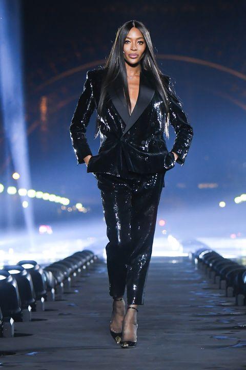 Naomi Campbell Shuts Down Paris Fashion Week As The Closing Look For Saint Laurent