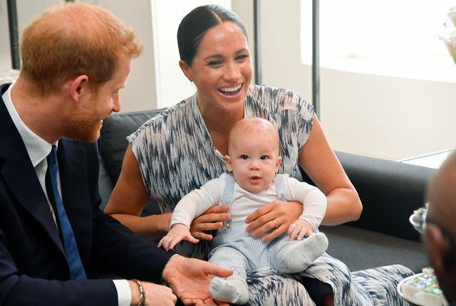 cape town, south africa   september 25 prince harry, duke of sussex, meghan, duchess of sussex and their baby son archie mountbatten windsor meet archbishop desmond tutu and his daughter thandeka tutu gxashe at the desmond  leah tutu legacy foundation during their royal tour of south africa on september 25, 2019 in cape town, south africa photo by toby melvillepoolsamir husseinwireimage