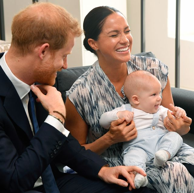 cape town, south africa   september 25 prince harry, duke of sussex, meghan, duchess of sussex and their baby son archie mountbatten windsor meet archbishop desmond tutu and his daughter thandeka tutu gxashe at the desmond  leah tutu legacy foundation during their royal tour of south africa on september 25, 2019 in cape town, south africa photo by poolsamir husseinwireimage