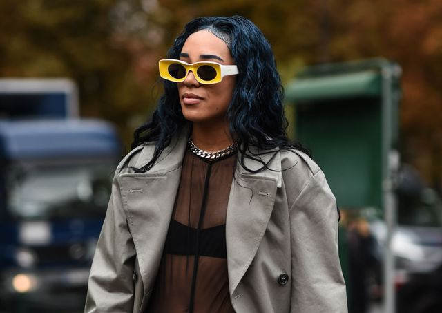 paris, france   september 25 aleali may is seen outside the maison margiela show during paris fashion week ss20 on september 25, 2019 in paris, france photo by daniel zuchnikgetty images
