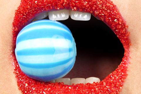 Blue, Lip, Red, Tooth, Eyelash, Organ, Colorfulness, Close-up, Photography, Coquelicot,