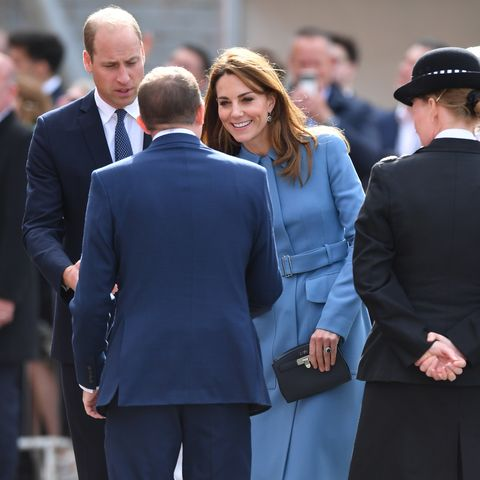 The Duke & Duchess Of Cambridge Attend The Naming Ceremony For The RSS Sir David Attenborough