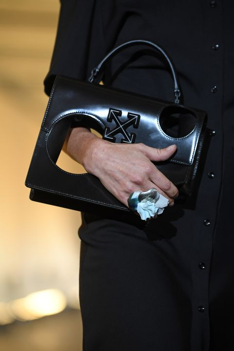 Spring 2020 Handbag Trends.Off White Debuts Meteor Bag Filled With Holes At Spring 2020