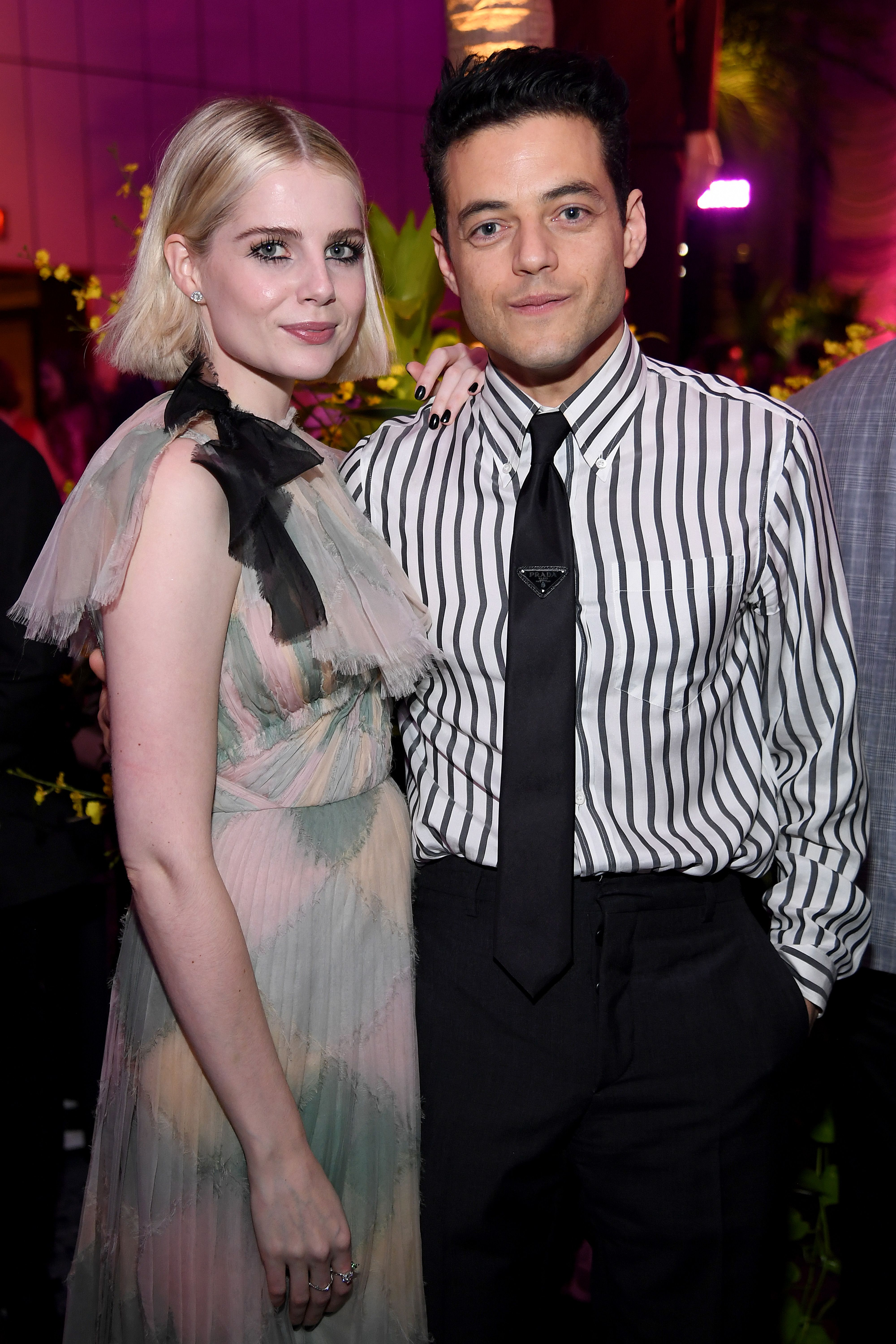 Lucy Boynton and Rami Malek Outdressed Everyone for Their Date at The Politician's After Party