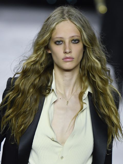 Hair, Blond, Fashion model, Face, Hairstyle, Long hair, Fashion, Beauty, Lip, Eyebrow,