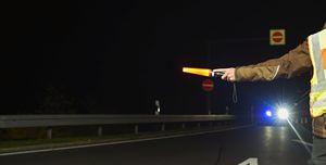 """""""Suspicious Feeling"""" - Night police control highway"""