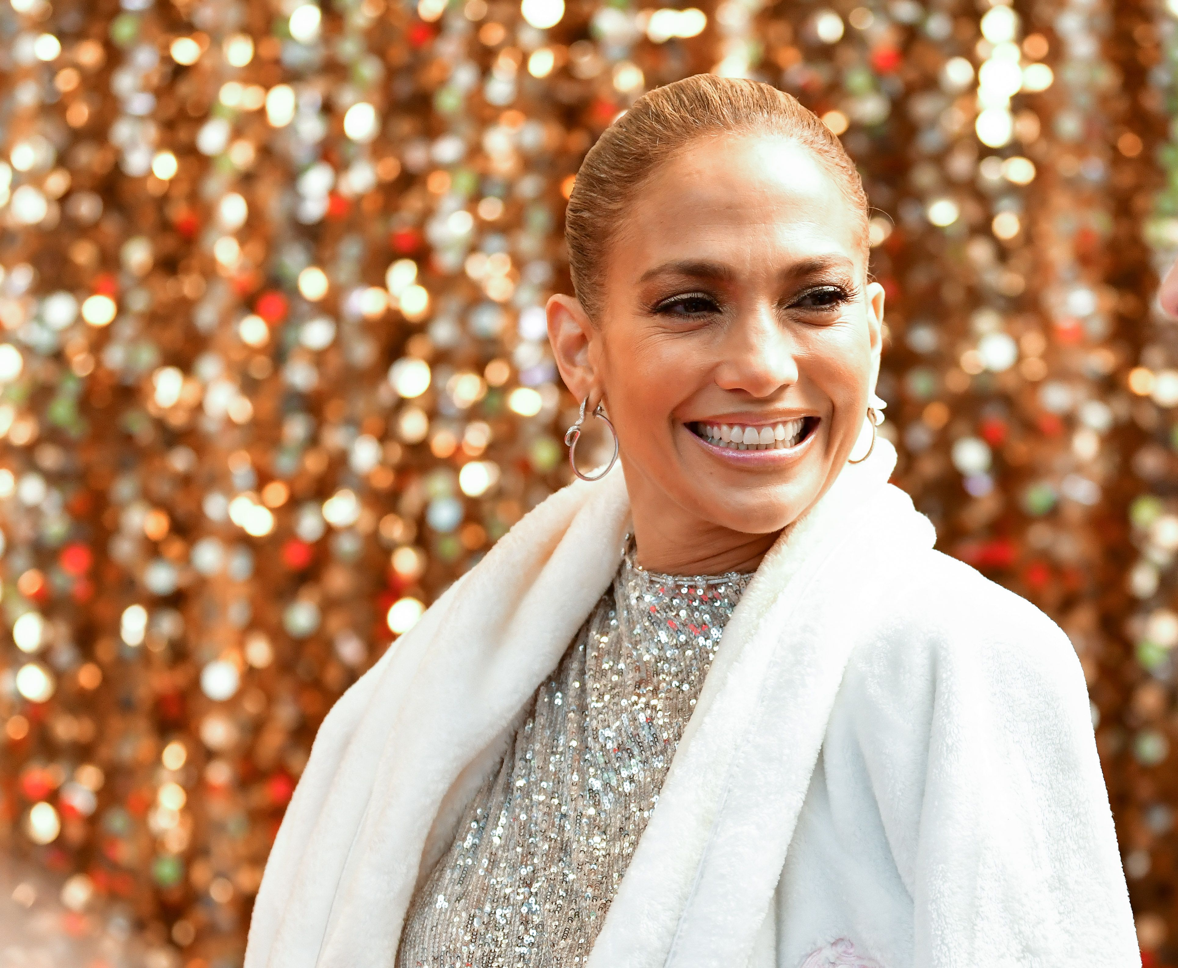 Jennifer Lopez Just Had a Major Leg Slit Moment in a Custom Michael Costello Gown