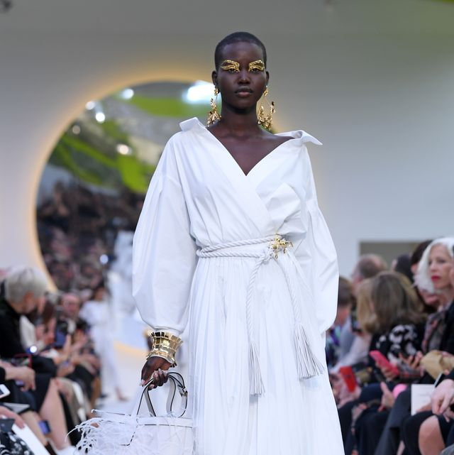 paris, france   september 29 a model walks the runway during the valentino womenswear springsummer 2020 show as part of paris fashion week on september 29, 2019 in paris, france photo by pascal le segretaingetty images
