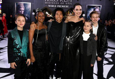 Angelina Jolie Kids Attend Maleficent Mistress Of Evil