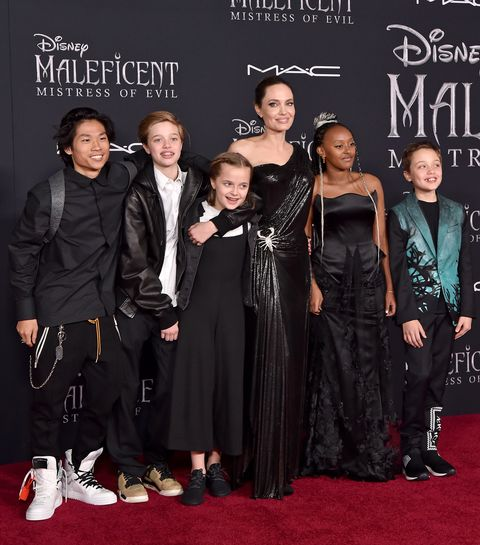 Angelina Jolie Kids Attend Maleficent Mistress Of Evil