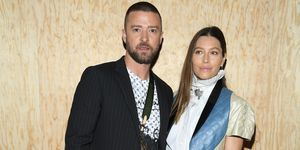 louis vuitton front row jessica biel justin timberlake