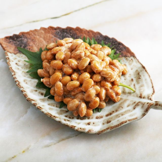 japanese cuisine fermented soybeans in a dish