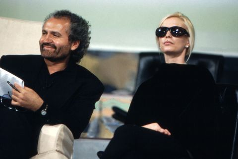italian fashion designer gianni versace in the company of his sister donatella versace 1980s photo by archivio apgmondadori portfolio via getty images