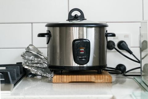 pot pan and rice cooker in kitchen