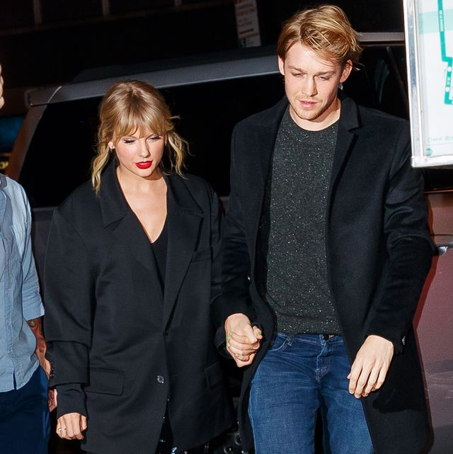 new york, new york   october 06 taylor swift and joe alwyn arrive at zuma on october 06, 2019 in new york city photo by jackson leegc images