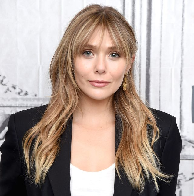 """new york, new york   october 08 actress elizabeth olsen visits the build series to discuss the facebook watch original series """"sorry for your loss season 2"""" at build studio on october 08, 2019 in new york city photo by gary gershoffgetty images"""