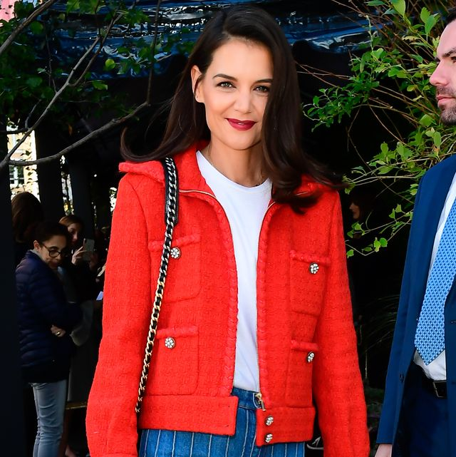 new york, ny   november 04  katie holmes is seen in tribeca on november 4, 2019 in new york city  photo by raymond hallgc images