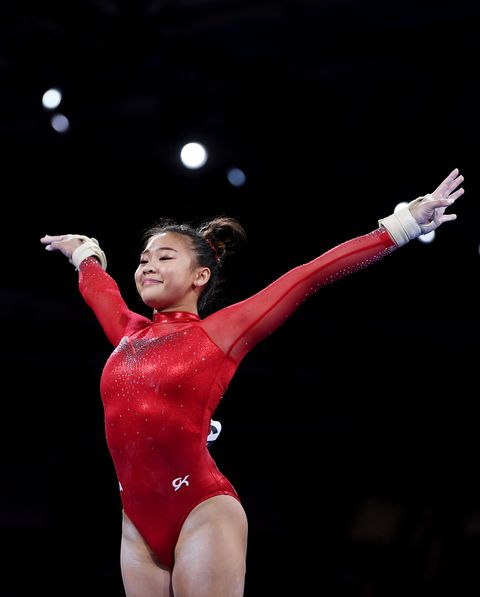 stuttgart, germany   october 10 sunisa lee of usa competes on the vault during the womens all around final on day 7 of fig artistic gymnastics world championships on october 10, 2019 in stuttgart, germany photo by laurence griffithsgetty images