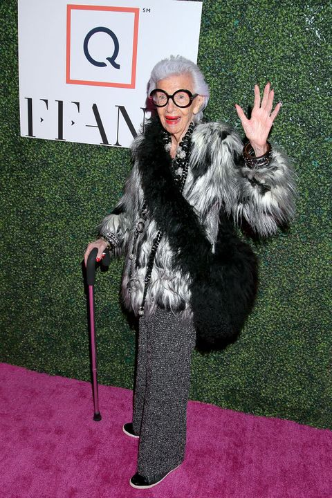 new york, new york   october 10 iris apfel attends the 26th annual qvc presents ffany shoes on sale gala on october 10, 2019 in new york city photo by jemal countessgetty images for fashion footwear charitable foundation