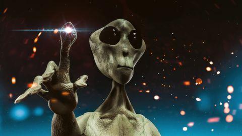 digitale illustratie van een alien