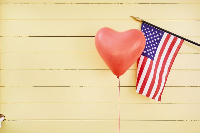 heart and american flag