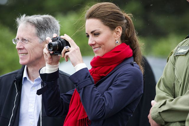 charlottetown, pe   july 04  catherine, duchess of cambridge takes photographs as prince william, duke of cambridge takes part in helicopter manouvres called water birding across dalvay lake on july 4, 2011 in charlottetown, canada the newly married royal couple are on the fifth day of their first joint overseas tour the 12 day visit to north america is taking in some of the more remote areas of the country such as prince edward island, yellowknife and calgary the royal couple started off their tour by joining millions of canadians in taking part in canada day celebrations which mark canadas 144th birthday  photo by arthur edwards   poolgetty images