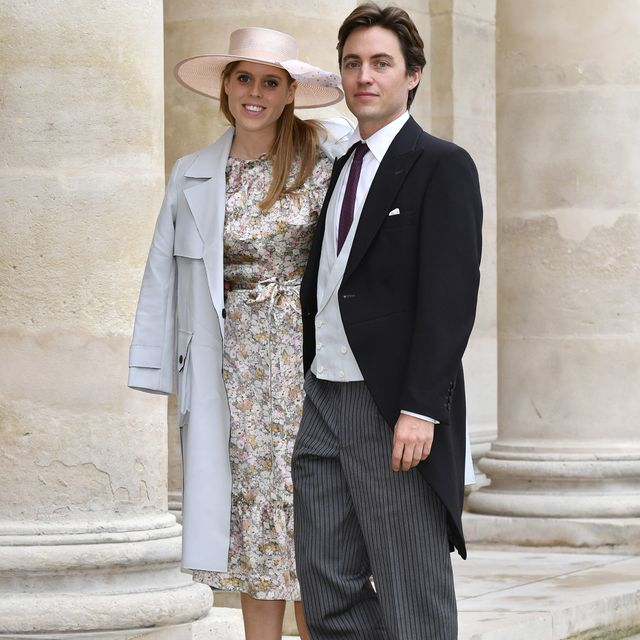 paris, france   october 19 princess beatrice d'york and her fiance edoardo mapelli mozzi attend the wedding of prince jean christophe napoleon and olympia von arco zinneberg at les invalides on october 19, 2019 in paris, france photo by luc castelgetty images