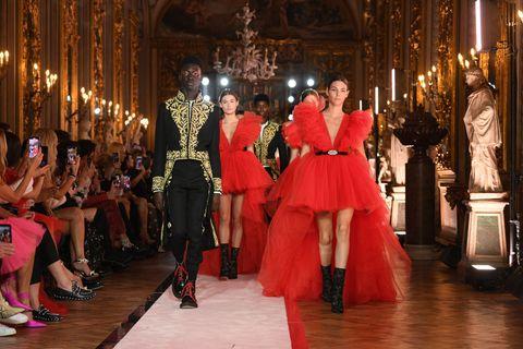 Event, Fashion, Haute couture, Tradition, Dress, Fashion design, Ceremony, Dance, Ballroom,