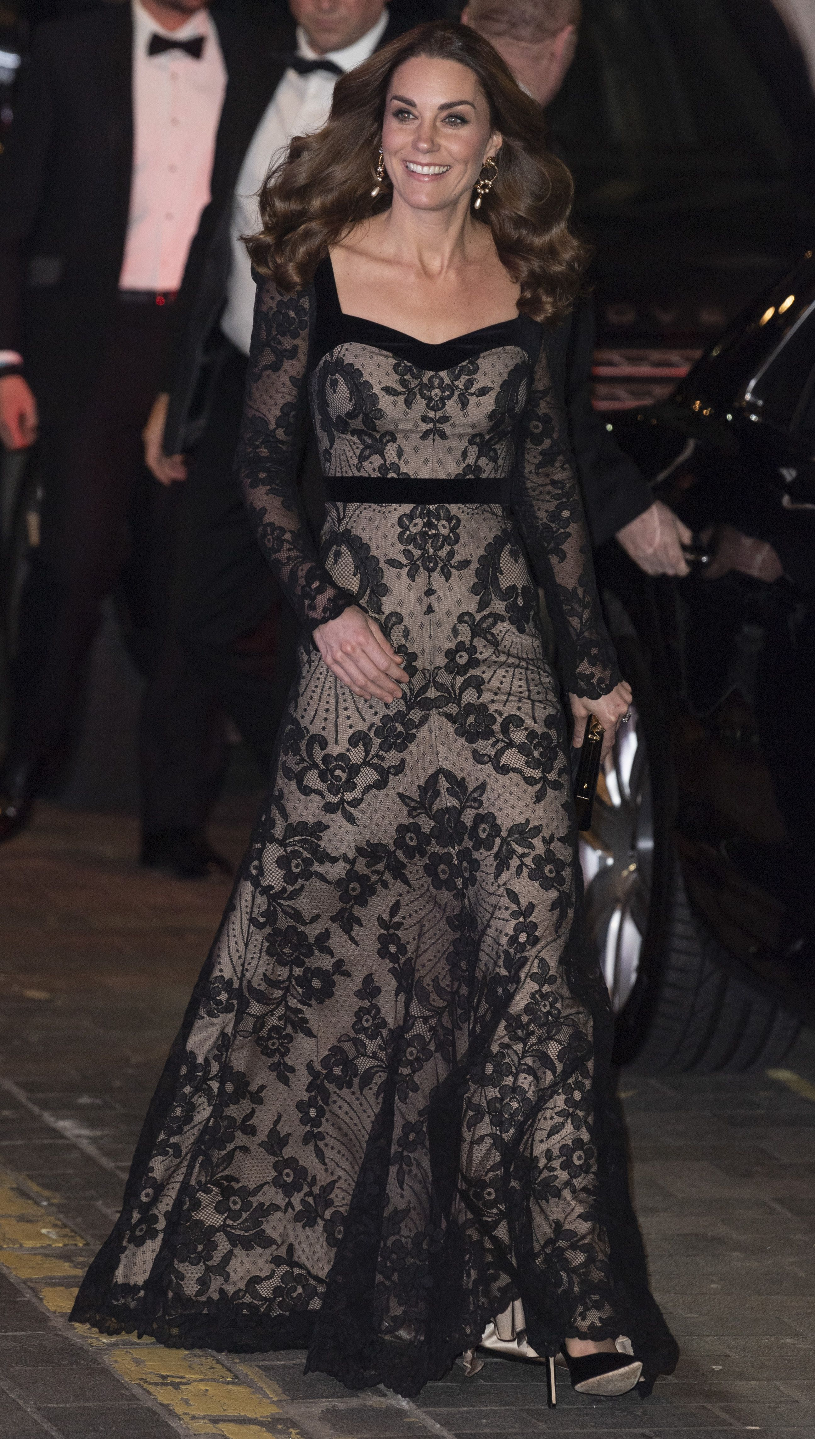 Kate Middleton Looks Beyond Chic In Semi Sheer Alexander McQueen Gown For Royal Variety Performance