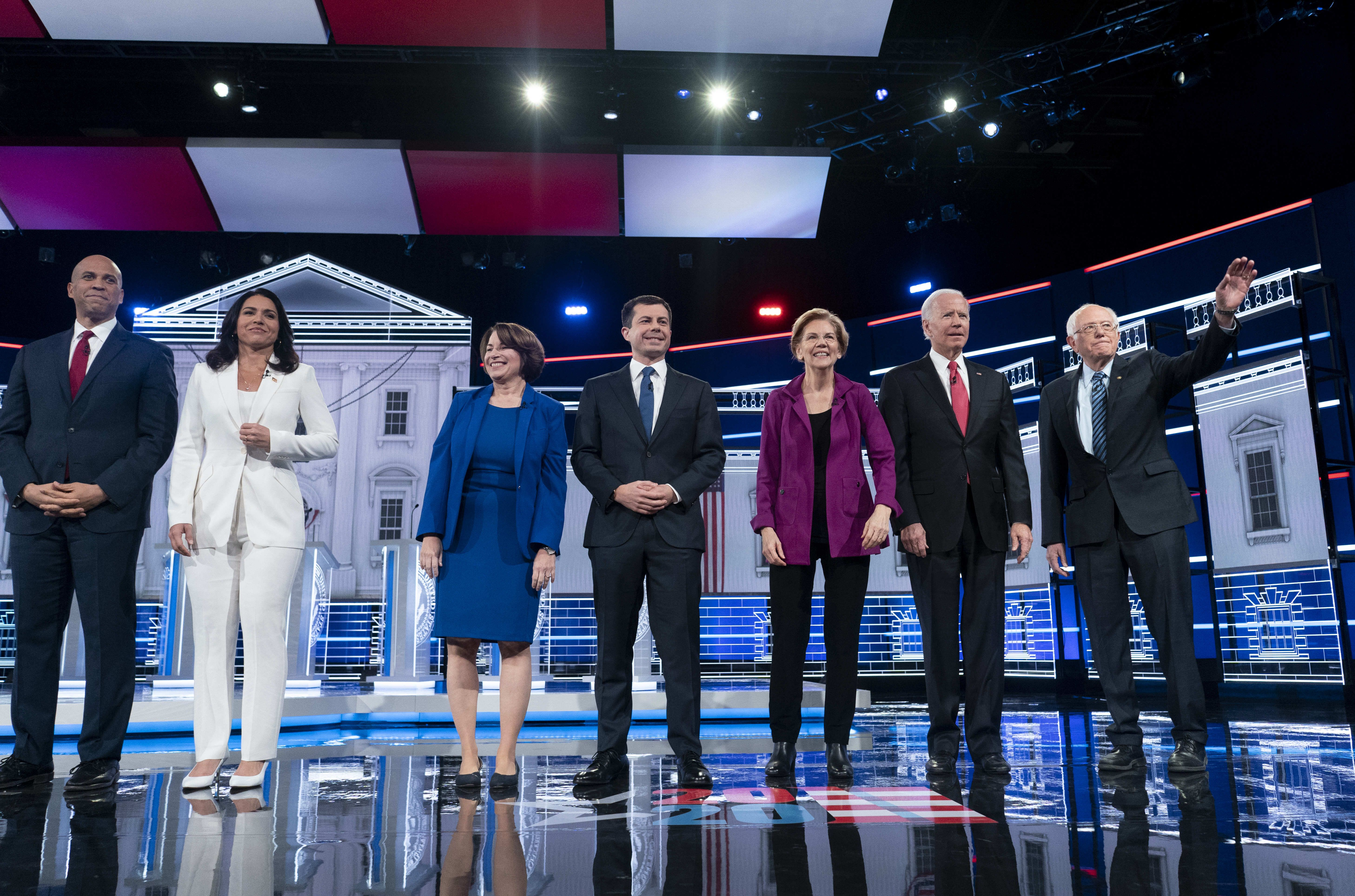 The Trump Impeachment Hearings Had a Gravitational Pull on the Democratic Debate Wednesday