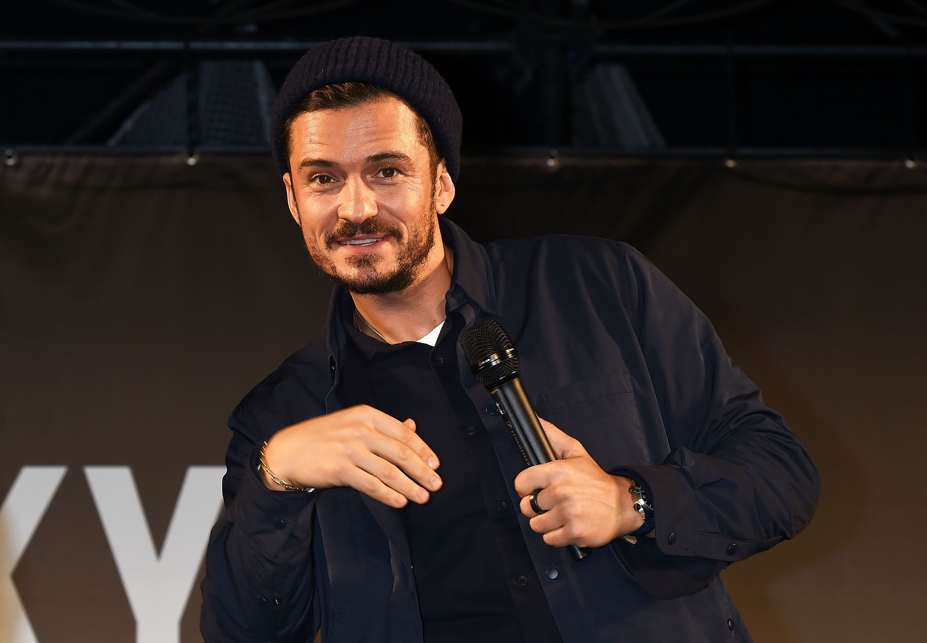 Orlando Bloom reveals he's corrected his tattoo after misspelling son's name
